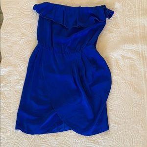 Amanda Uprichard blue silk Joan dress S